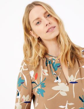 Çiçek Desenli Shift Elbise