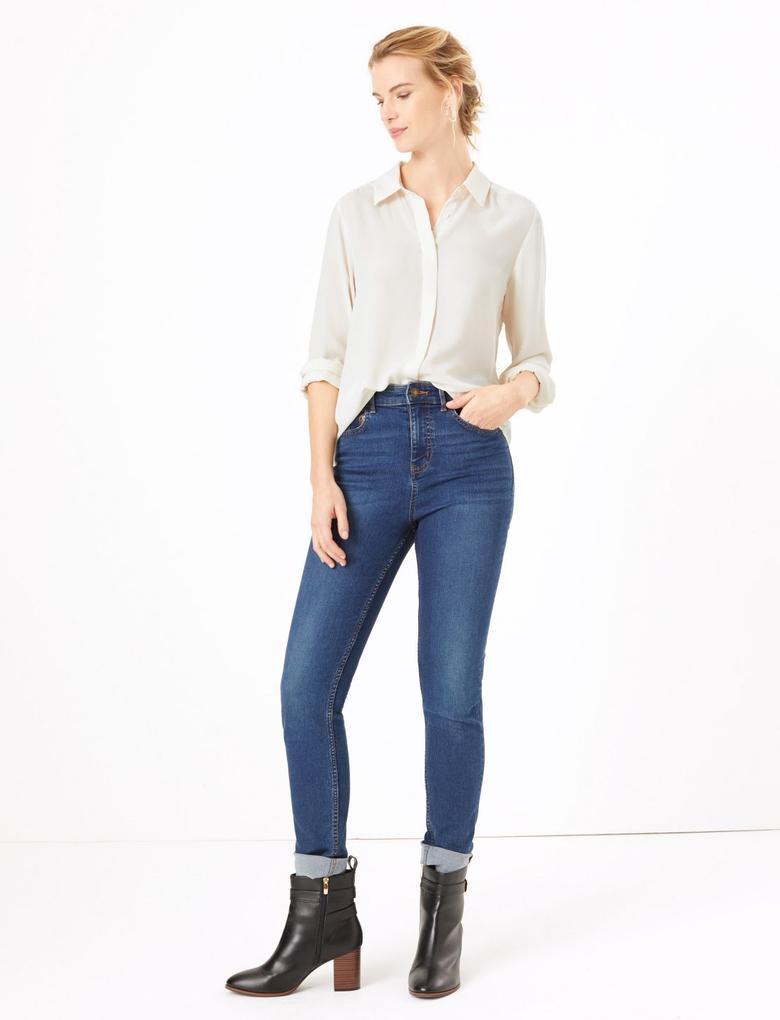 Kadın Bej Uzun Kollu Bluz