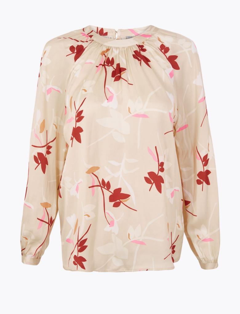 Kadın Multi Renk Desenli Bluz