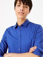 Kadın Mavi Düğme Detaylı Gömlek