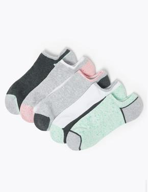 Kadın Gri 5'li Babet Çorap Seti