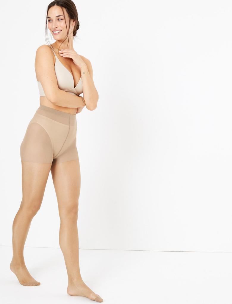 Kadın Kahverengi 5 Denye Cool Comfort Külotlu Çorap