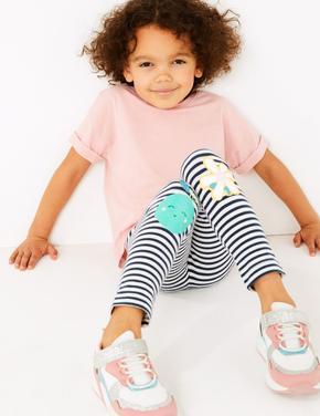 Kız Çocuk Multi Renk 3'lü Desenli Tayt Seti