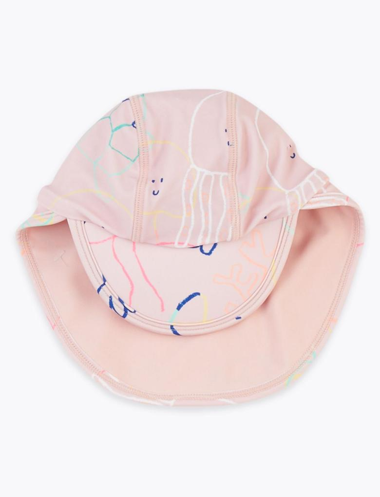 Bebek Pembe Şapka ve Mayo Takımı
