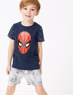 Çocuk Lacivert Spider-Man™ Desenli Pijama Takımı