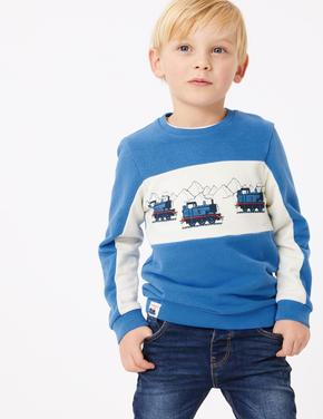 Multi Renk Thomas™ Desenli Sweatshirt