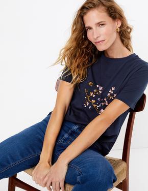 Lacivert Kısa Kollu Regular Fit T-Shirt