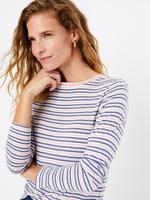 Mavi Çizgili Relaxed Fit T-Shirt