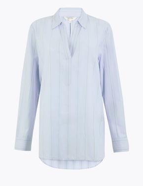 Mavi Uzun Kollu Bluz