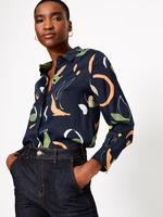 Lacivert Desenli Bluz