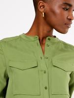 Yeşil Cepli Utility Bluz