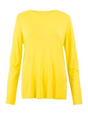 Sarı Saten Bluz
