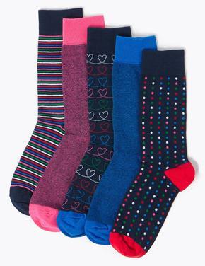 Erkek Pembe 5'li Cool & Fresh™ Çorap Seti