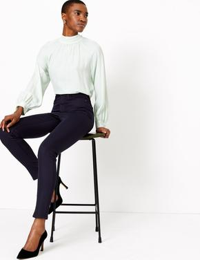 Lacivert StayNEW™ Yüksek Belli Skinny Jean Pantolon