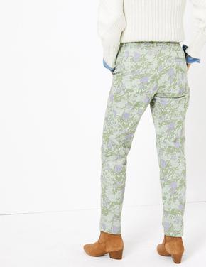Kadın Yeşil Bilekte Grazer Chino Pantolon