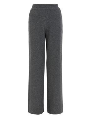 Kadın Gri Yumuşak Dokulu Wide Leg Pantolon