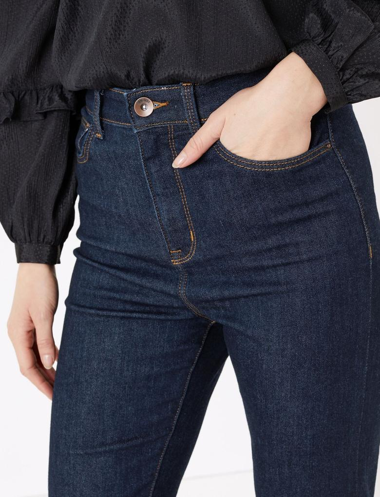 Kadın Lacivert Harper Cigarette Jean Pantolon