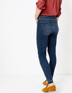 Kadın Lacivert Yüksek Belli Skinny Jean Pantolon