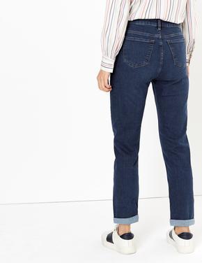 Kadın Lacivert Relaxed Slim Jean Pantolon