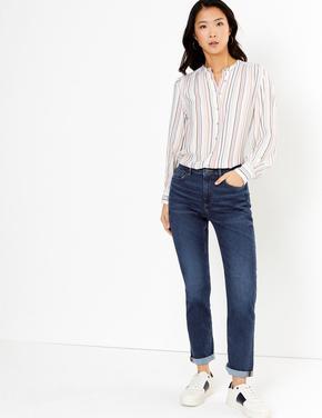 Lacivert Relaxed Slim Jean Pantolon