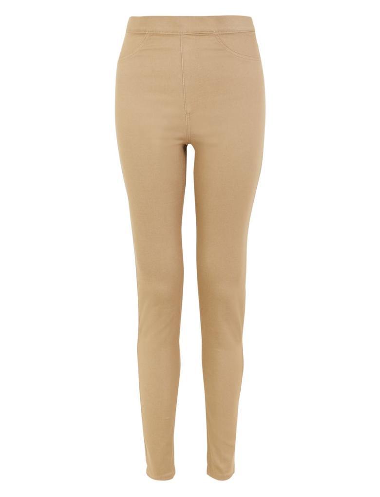 Kadın Kahverengi Yüksek Belli Jegging Pantolon