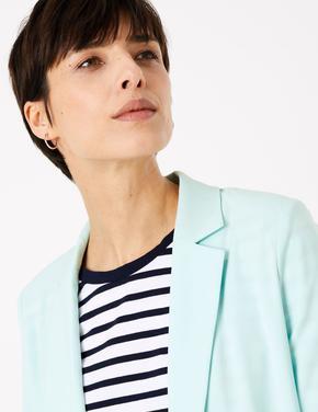 Kadın Yeşil Relaxed Blazer Ceket