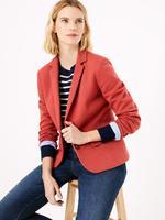 Kadın Kahverengi Özel Dokulu Blazer Ceket