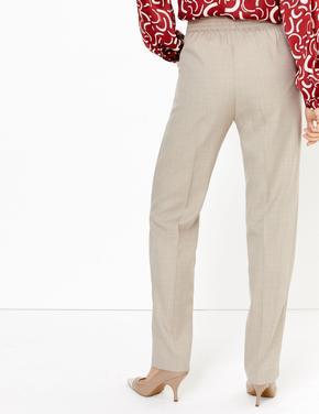 Kadın Renksiz Toka Detaylı Straight Leg Pantolon