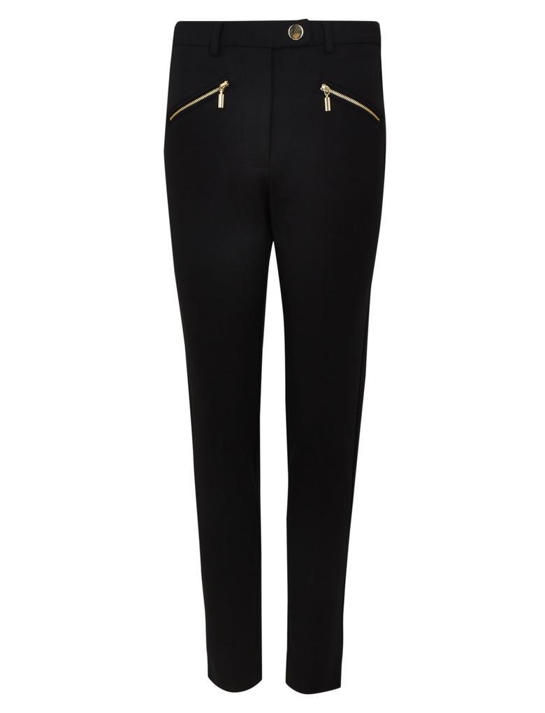 Siyah Fermuar Detaylı Mia Slim Pantolon
