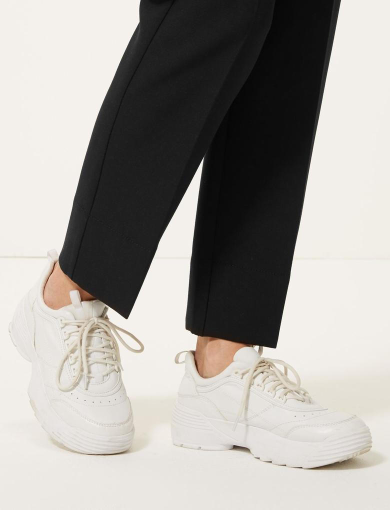 Kadın Siyah 7/8 Evie Straight Pantolon
