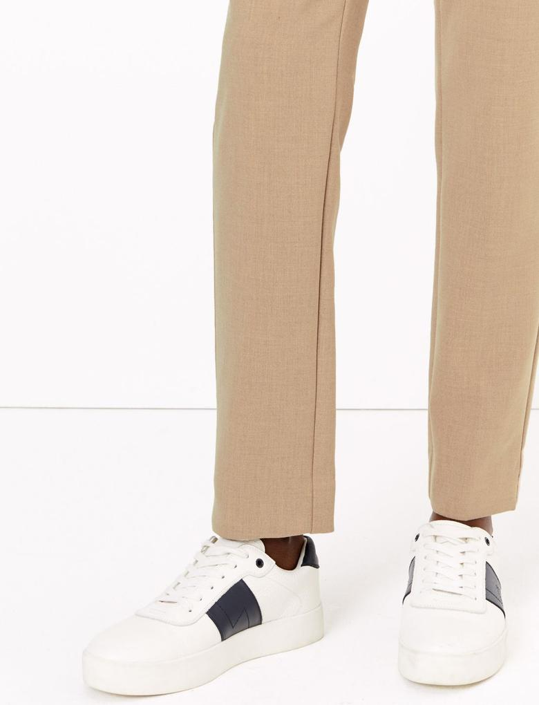 Kadın Bej Mia Slim Fit Pantolon