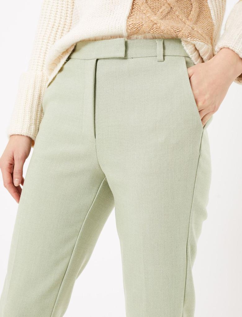 Kadın Yeşil Mia Slim Fit Pantolon