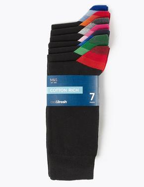 7'li Cool & Fresh™ Çizgili Çorap Seti
