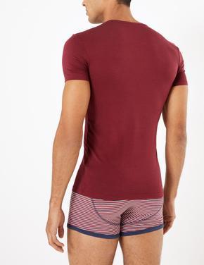 Erkek Kırmızı Luxury Supima® Supersoft Pamuk Karışımlı Atlet