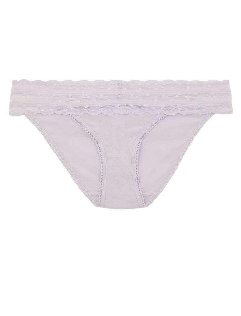 Kadın Mor Dantelli Bikini Külot
