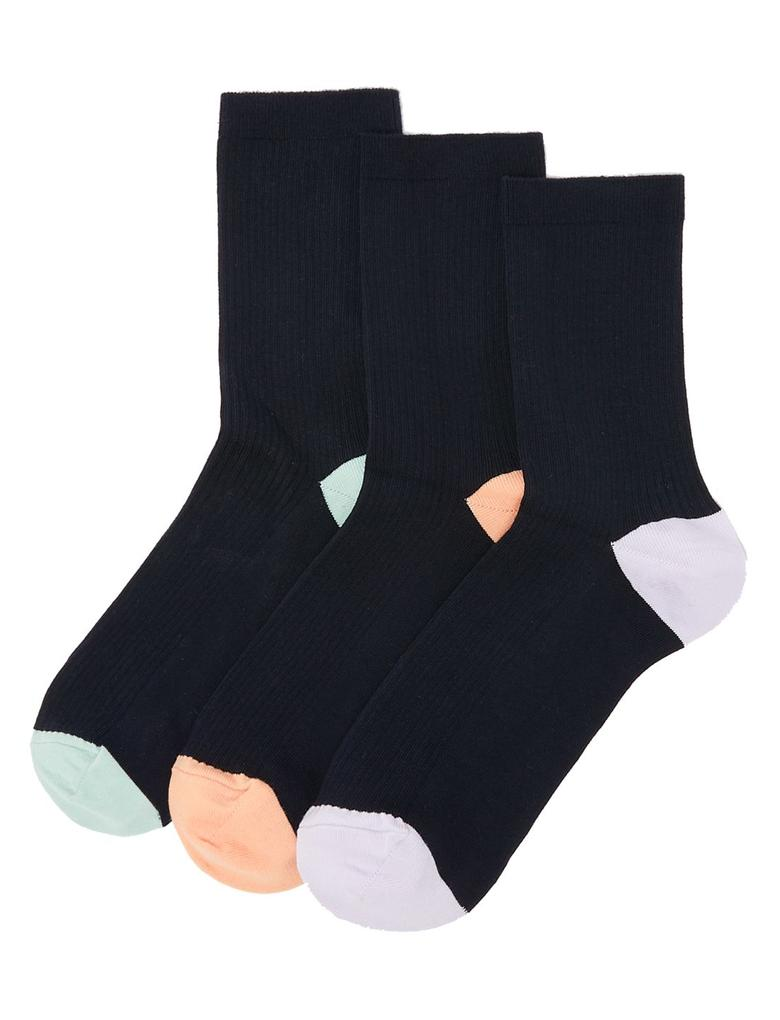 Kadın Lacivert 3'lü Ankle Çorap Seti