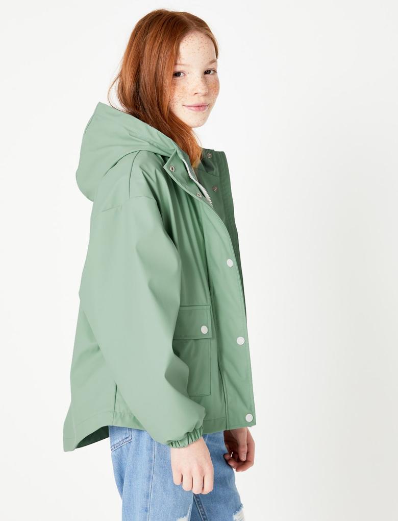 Kız Çocuk Yeşil Stormwear™ Balıkçı Yağmurluk