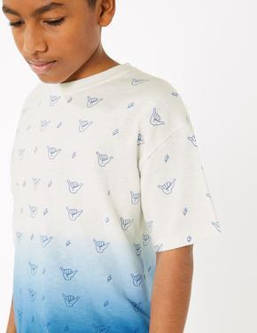 Erkek Çocuk Multi Renk Desenli Kısa Kollu T-Shirt