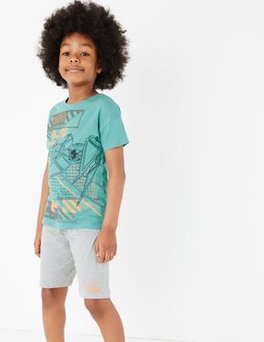 Çocuk Yeşil Star Wars™ Kısa Kollu Pijama Takımı