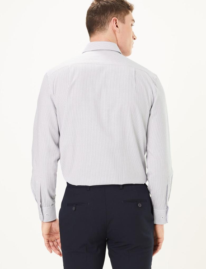 Erkek Lacivert Kolay Ütülenebilir Regular Fit Gömlek