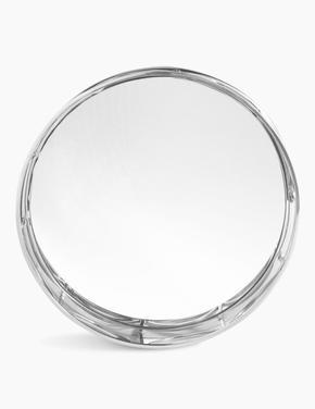 Ev Gümüş Yuvarlak Aynalı Tepsi