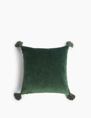 Yeşil Mini Kadife Dekoratif Yastık