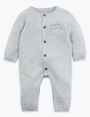 Bebek Beyaz Organik Pamuklu Tulum
