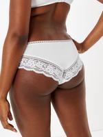 Kadın Beyaz Dantelli Brazilian Külot