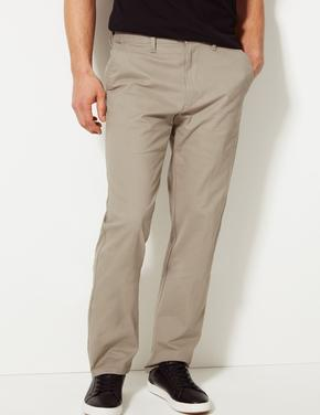 Erkek Krem Regular Fit Chino Pantolon