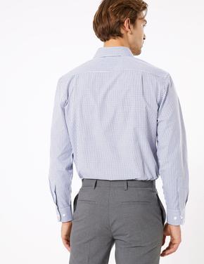 Erkek Lacivert 2'li Kolay Ütülenebilir Gömlek Seti