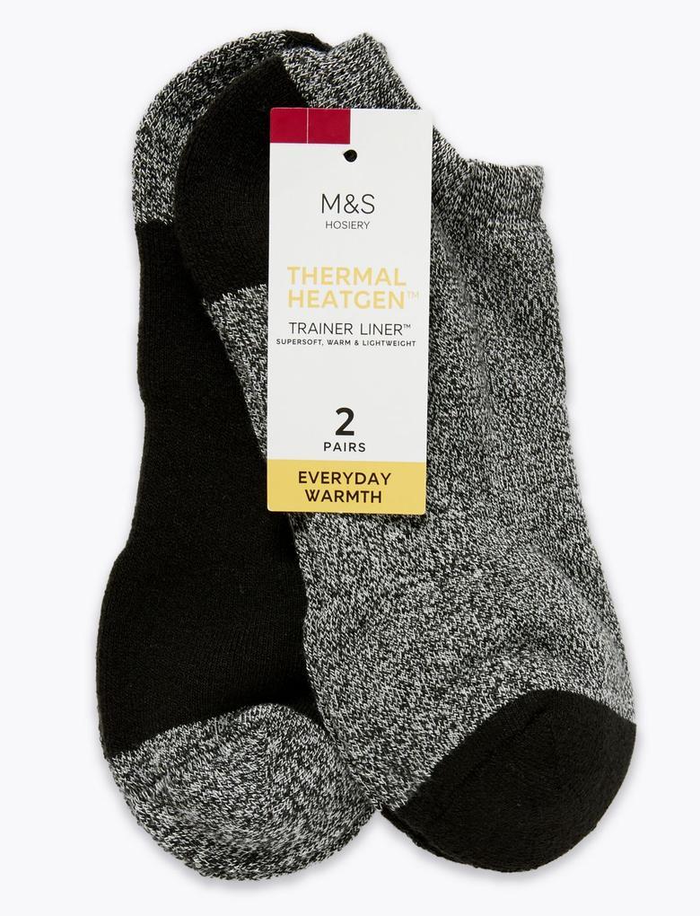 Kadın Siyah 2'li Heatgen™ Trainer Çorap Seti