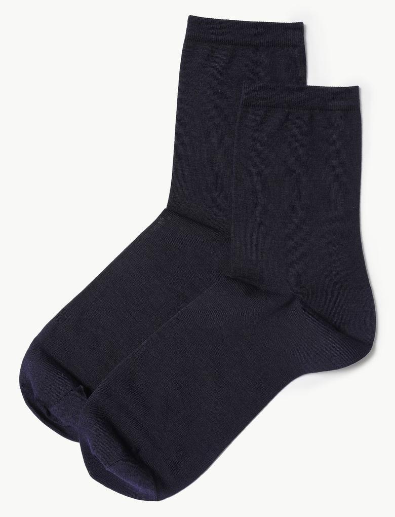 Kadın Lacivert 2'li Paket İnce Çorap Seti