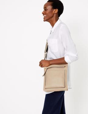 Kadın Kahverengi Dokuma Askılı Çapraz Çanta