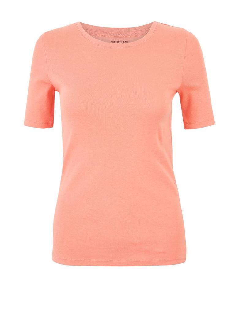 Kadın Kırmızı Saf Pamuklu Regular Fit T-Shirt